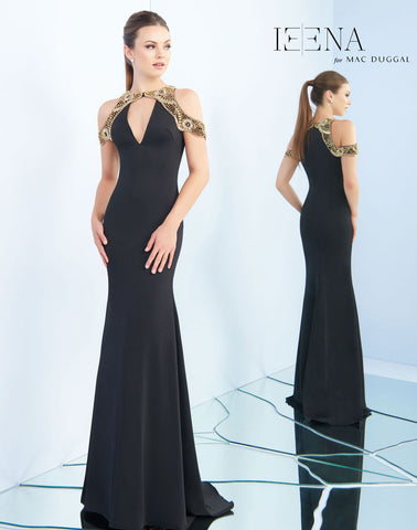 Mac Duggal 25564I Prom Dress Black/Gold