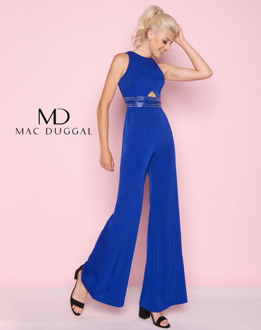 Mac Duggal 25625L Prom Jumpsuit Royal