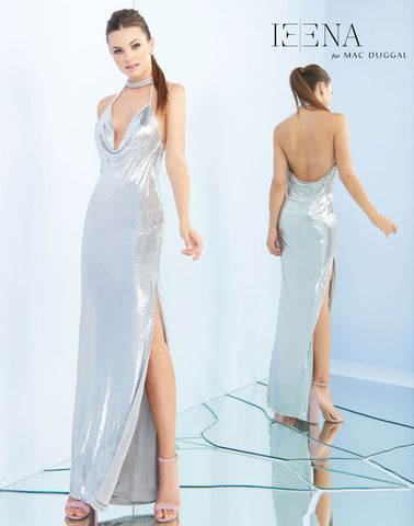 Mac Duggal 25751I Prom Dress Silver