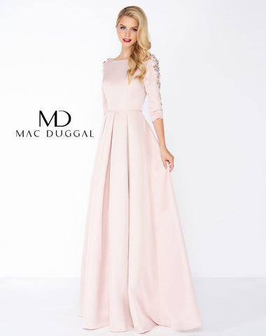 Mac Duggal 25850R Prom Dress Rose Pink