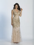 Prom Dress Dave & Johnny 2635 Gold