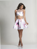 Homecoming Dress Dave & Johnny 2647 White Print