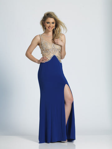 Prom Dress Dave & Johnny 2716 Sapphire
