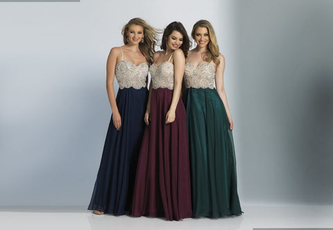 Dave & Johnny 2725 Prom Dress Navy, Burgundy & Green