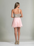 Homecoming Dress Dave & Johnny 2726 Blush Back