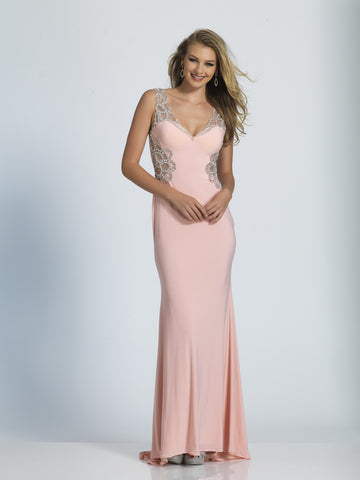 Prom Dress Dave & Johnny 2732 Pink