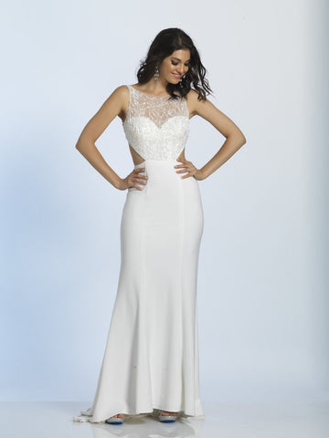 Prom Dress Dave & Johnny 2909 Ivory