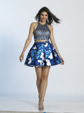 Homecoming Dress Dave & Johnny 2966 Print