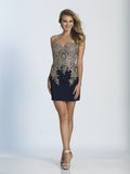 Homecoming Dress Dave & Johnny 2974 Navy