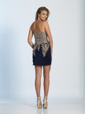 Homecoming Dress Dave & Johnny 2974 Navy Back