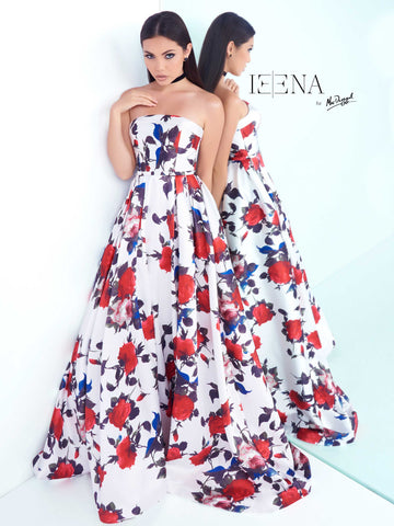 Prom Dress Mac Duggal 30275I White Floral