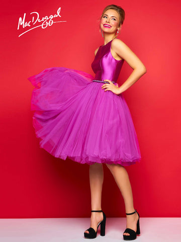 Mac Duggal 30320C Homecoming Dress Magenta