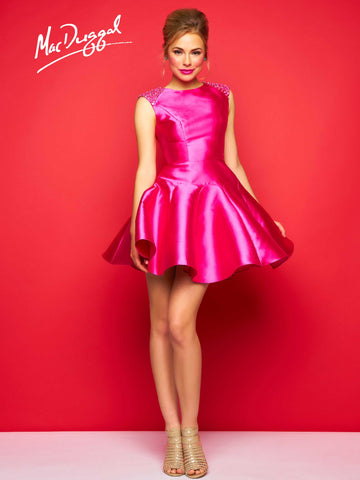 Mac Duggal 30322C Homecoming Dress Hot Pink