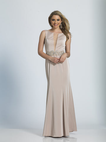 Prom Dress Dave & Johnny 3039 Champagne