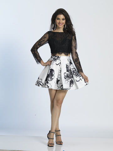 Homecoming Dress Dave & Johnny 3044 Black