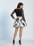 Homecoming Dress Dave & Johnny 3044 Black Back