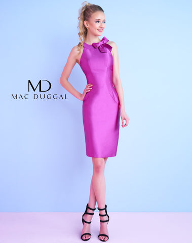 Mac Duggal 30463N Homecoming Dress Magenta