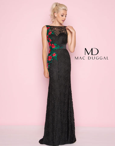 Mac Duggal 40530L Prom Dress Black/Red