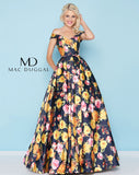 Mac Duggal 40727H Prom Dress Midnight/Multi-Color