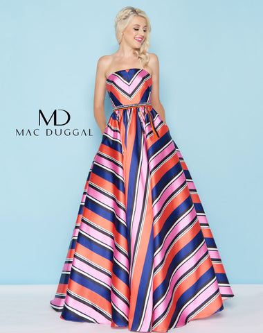 Mac Duggal 40735H Prom Dress Multi-Color