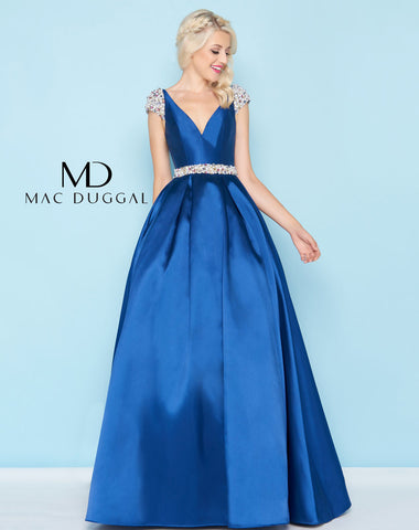 Mac Duggal 40744H Prom Dress Navy