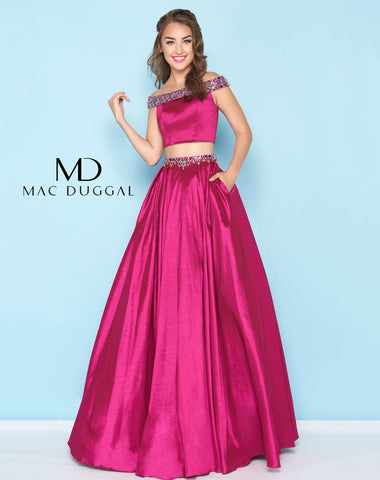 Mac Duggal 40745H Prom Dress Magenta