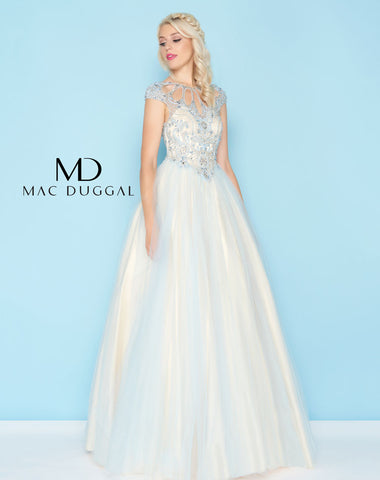 Mac Duggal 40750H Prom Dress Powder Blue