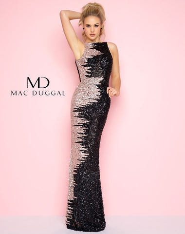 Mac Duggal 4160L Prom Dress Black/Nude