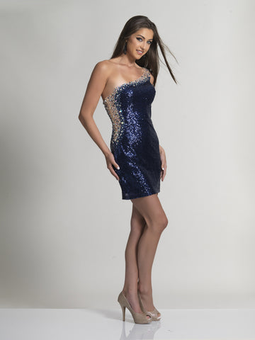 Prom Dress Dave & Johnny 418 Navy