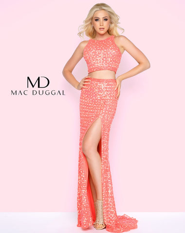 Mac Duggal 4360L Prom Dress Coral