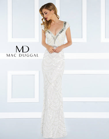 Mac Duggal Prom Dress 4470R Ivory