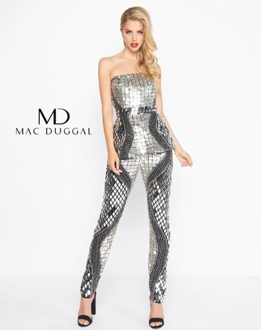 Mac Duggal 4641R Prom Dress Black Pattern