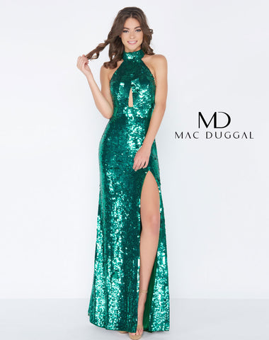 Mac Duggal 4658A Prom Dress Emerald