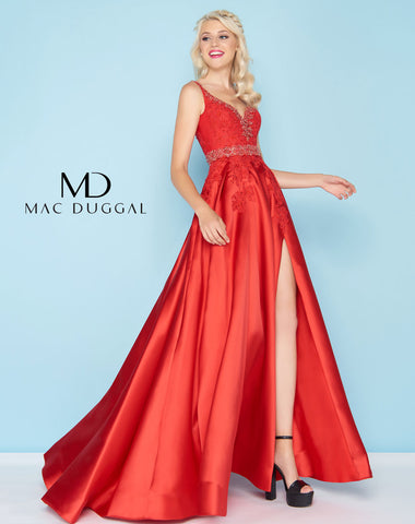Mac Duggal 48630H Prom Dress Red