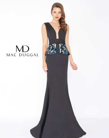 Mac Duggal 48712R Prom Dress Black