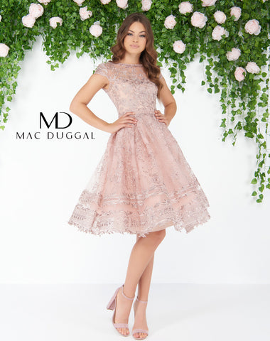 Mac Duggal 50424D Prom Dress Rose