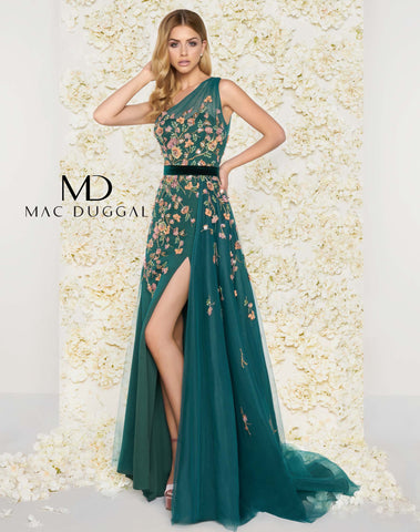Mac Duggal 50433D Prom Dress Emerald