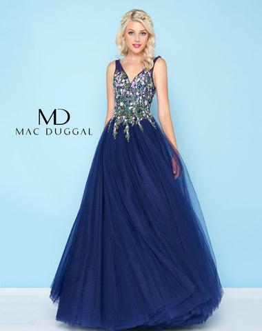 Mac Duggal 50442H Prom Dress Indigo