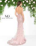 Mac Duggal 50455D Prom Dress Rose Gold Back