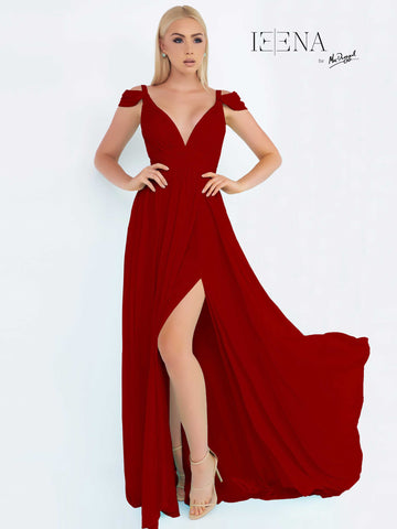 Prom Dress Mac Duggal 55099I Burgundy