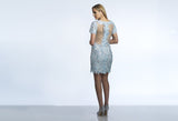 Homecoming Dress Dave & Johnny 561 Ice Blue Back