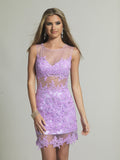 Homecoming Dress Dave & Johnny 595 Lilac
