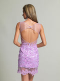 Homecoming Dress Dave & Johnny 595 Lilac Back