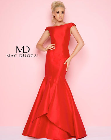 Mac Duggal 62398L Prom Dress Red