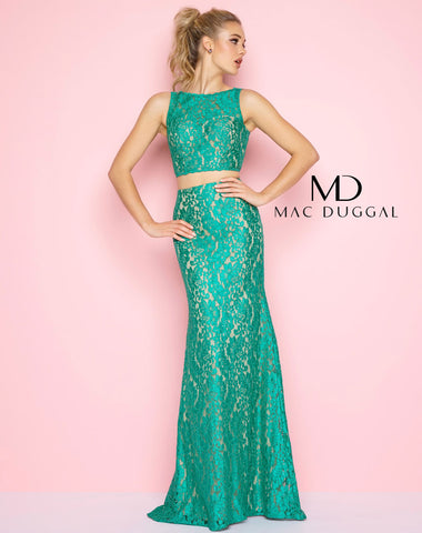 Mac Duggal 62412L Prom Dress Emerald