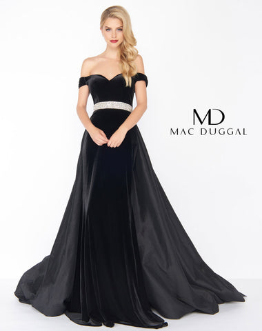 Mac Duggal 62767R Prom Dress Black/Multi-Color