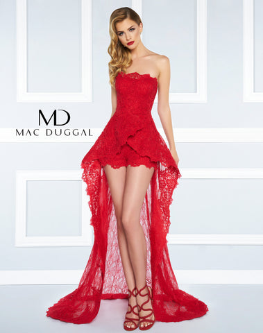 Mac Duggal Prom Dress 62869R Red