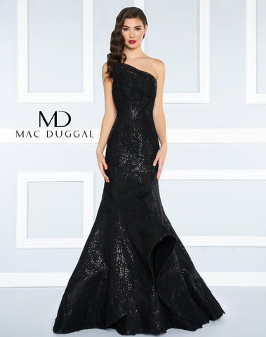 Mac Duggal Prom Dress 62872R Black