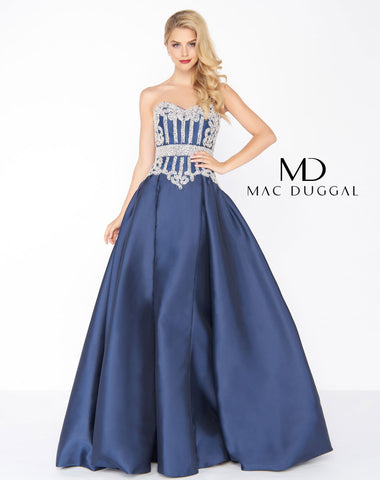 Mac Duggal 62894R Prom Dress Midnight