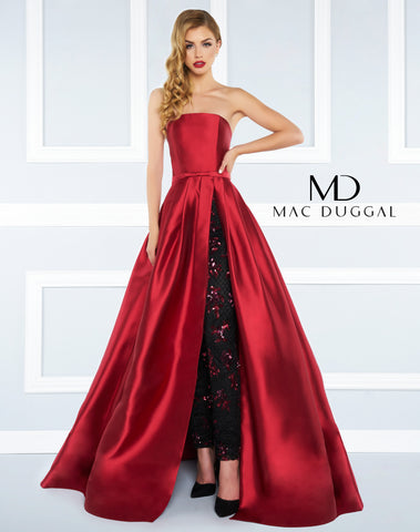 Mac Duggal Prom Dress 62899-4592R Burgundy